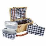 Mendler Picknickkorb-Set HWC-B23 für 6 Personen – für das edle Familien Picknick